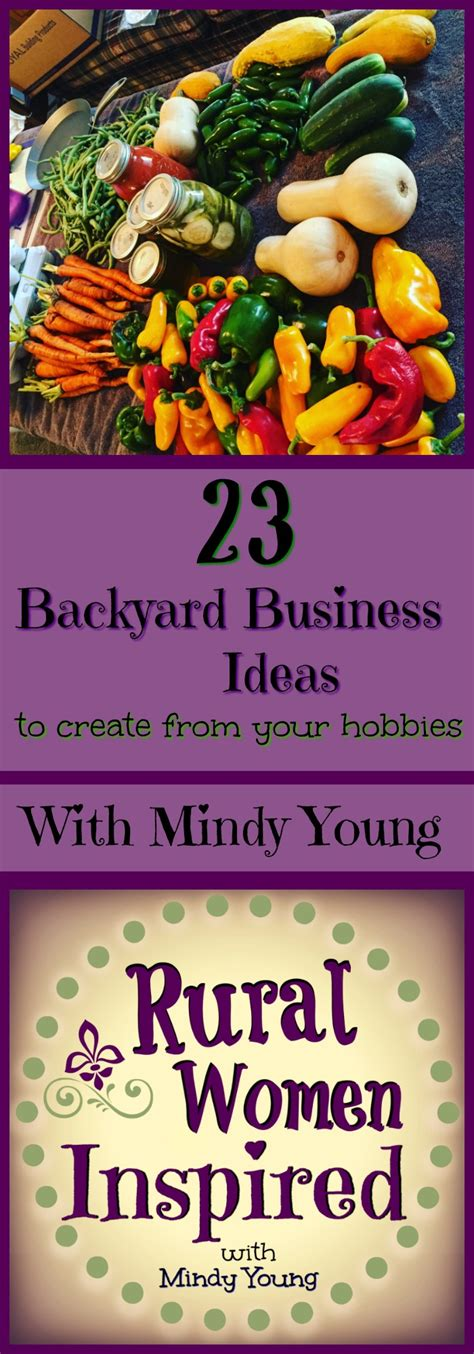 Backyard Business Ideas - 23 backyard business ideas to create from your favorite