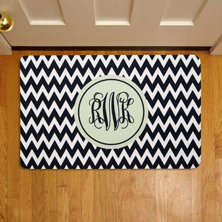 Doormats Personalized by Personalized Chevron Monogram 17 Quot X 27 Quot Doormat Walmart