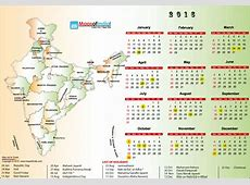 Year 2016 Calendar, Public Holidays in India in 2016