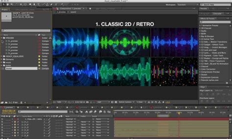 A list based on our research projectm, plane9, milkdrop, avee player, kauna, vsxu ultra artiste, and luminant music. Music Visualizer Kit - After Effects constructor template