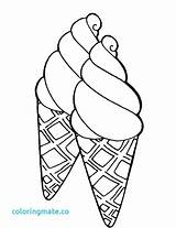 Ice Cream Coloring Cone Pages Icecream Printable Drawing Colouring Sheets Cakes Books Getcolorings Sweet Getdrawings Double Candy sketch template