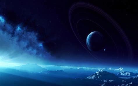 Beautiful Blue Space Hd Wallpaper
