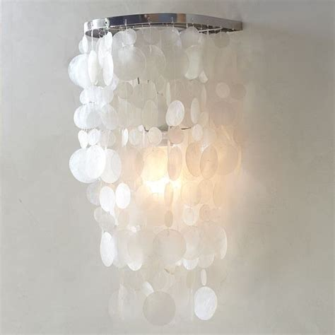 capiz sconce modern wall sconces by west elm