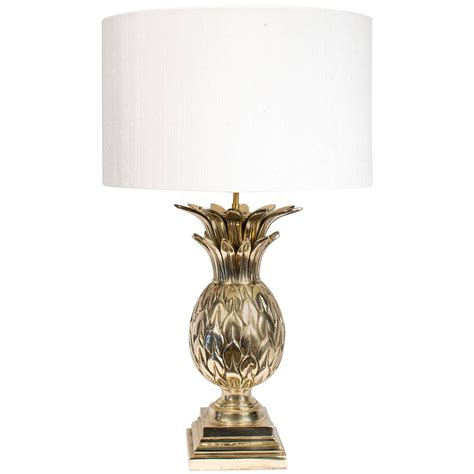 Mid Century Modern Table Lamp by Pineapple Brass Lamp Joevin Ortjens Galerie