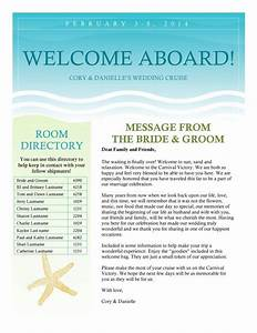 cruise wedding welcome letter newsletter by With wedding welcome letter template