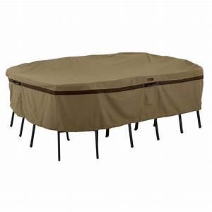 Classic accessories veranda large rectangular patio table for Patio furniture covers xl