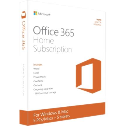Office 365 Home Subscription by Microsoft Office 365 Home Subscription Exclusive