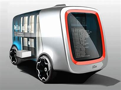 Driving Self Vans Electric Ford Drones Deliveries