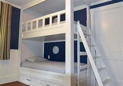 hand crafted architectural woodworking double bunk beds
