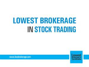 lowest brokerage  stock trading  wordpresscom