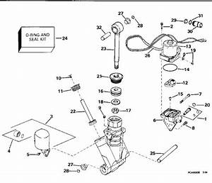 Evinrude Power Trim  Tilt Hydraulic Assembly Parts For 1994