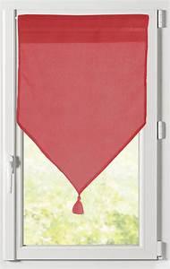 Voilage Brise Bise : paire de brise bise unie avec 16 coloris rouge anthracite fuchsia corail grenadine ~ Teatrodelosmanantiales.com Idées de Décoration