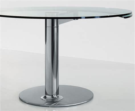 mobilier design table ronde avec rallonge plinto mario mazzer mobilier de bureau entr 233 e