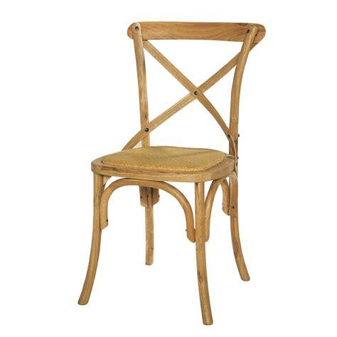 chaise en chêne massif chaise en rotin et chêne massif tradition maisons du monde