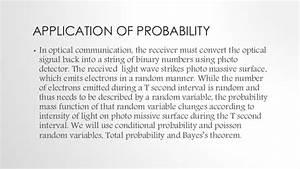 Optical Communication System Using Probability And Random