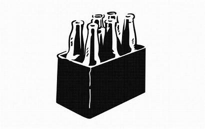 Svg Beer Pack Bottle Six Clipart Cricut