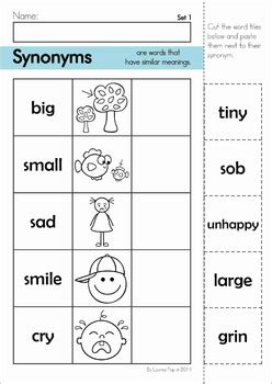 synonyms center  worksheets  lavinia pop teachers