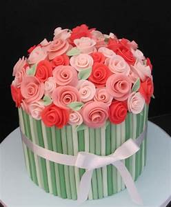 Happy birthday flowers and cake | Birthday Cakes with Name ...