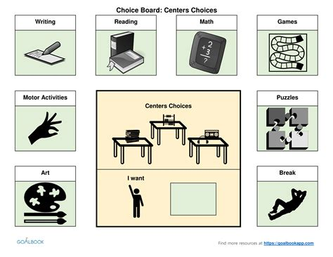 choice board template choice board template images professional report template word