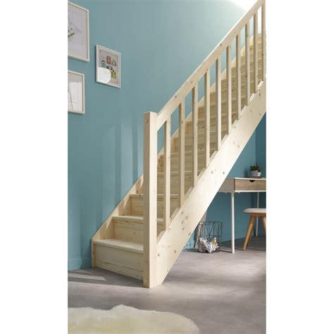 chaise bois blanc escalier droit deva structure bois marche bois leroy merlin