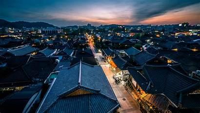 Korea South Jeonju Night Lights Travel Houses