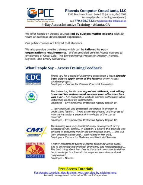 excel pivot tables recipe book access training in atlanta fact sheet learn tables