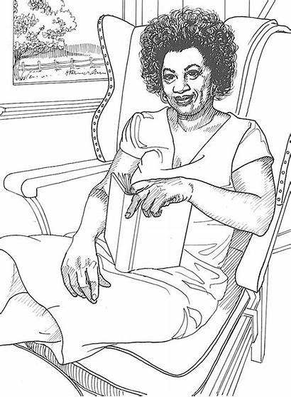 Coloring History Pages Month American Famous African