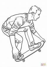 Skateboard Coloring Skateboarding Pages Hawk Printable Drawing Board Tony Ramp Drawings Getdrawings Styles Template sketch template