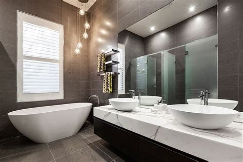 Contemporary Bathroom Downlight by Melbourne Heritage Home With Posh Extension By Lsa Architects