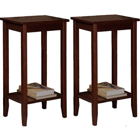 how tall are end tables rosewood coffee brown tall end tables value bundle
