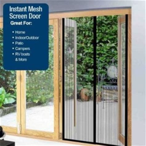 82x40 quot portable magnetic instant mesh screen sliding doors