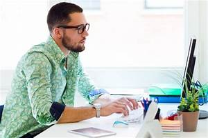 Guy working on computer in office Photo   Free Download