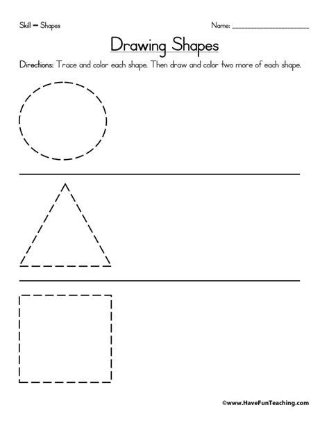 Drawing Shapes Worksheet  Have Fun Teaching