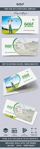 Golf Certificate Template Free Golf Club Gift Vouchers By ElegantFlyer