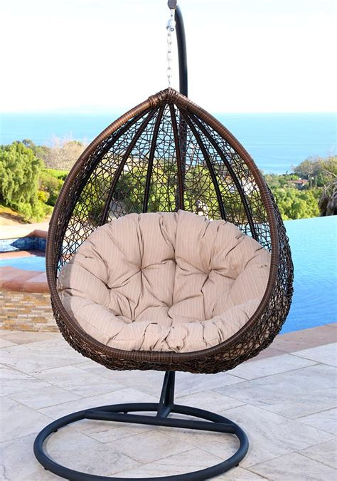 egg shaped swing chair 25 cocoon swing chairs designing idea 7034