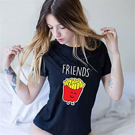 friends  shirt fuer  maedchen mit aufdruck burger und