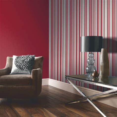 arthouse sophia stripe wallpaper  red