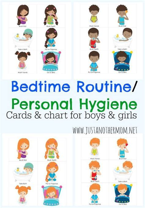 bedtime routine chart  cards cool ideas  kids bedtime routine chart routine chart