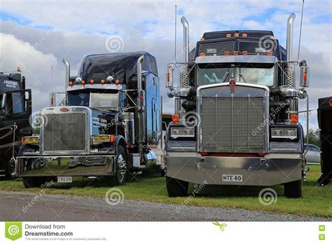 peterbilt and kenworth classic kenworth and peterbilt trucks editorial photo