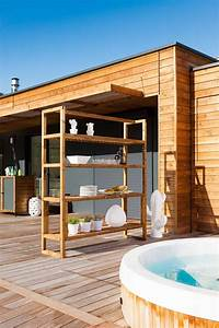 Terrasse Issue D U0026 39 Une Maison Design Et Moderne  U00e0 Ossature