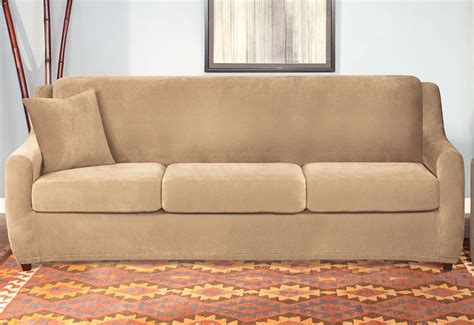 Sleeper Sofa Slipcover by Stretch Pique Four 3 Seat Sleeper Sofa Slipcover