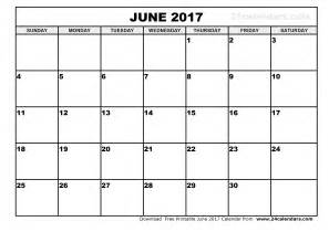 free june 2017 calendar with us holidays printable