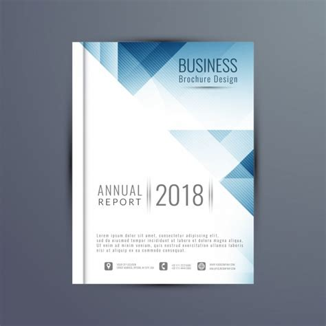 free annual report annual report cover vector free download