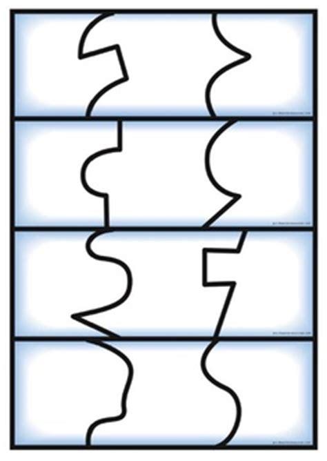 piece puzzle template clipart