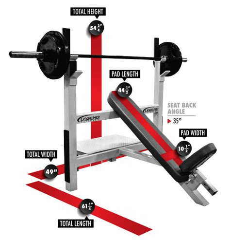 Incline Bench Press Angle by Olympic Incline Bench Legend Fitness Legend Fitness