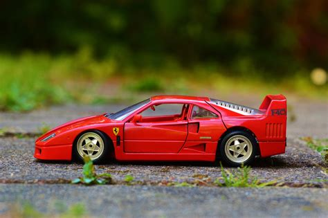 Another seller has his used item at £39.99, its in a smart gloss red in colour and a 2 tone interior and silver wheels. Red Ferrari F40 Coupe Die-cast Toy · Free Stock Photo