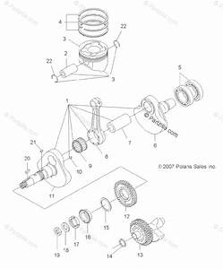 Polaris Atv 2013 Oem Parts Diagram For Engine  Crankshaft