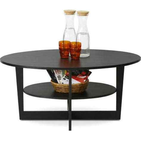 List of best storage coffee tables | coffee table with storage. Oval Coffee Table with Storage Shelf Modern Accent Cocktail Wooden Living Room #Generic #Modern ...