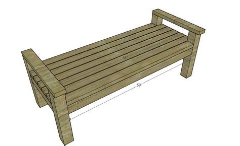 sturdy 2x4 bench buildsomething