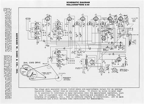 380 Tv Wiring Schematic by 1946 1949 Hallicrafters Quot Model S 40 Quot General Coverage